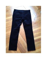 Isabel Marant - Black Velvet Trousers for Men - Lyst