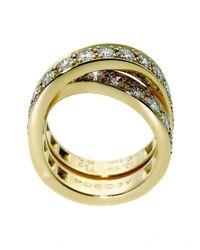 Cartier - Metallic Nouvelle Vague Diamond Bypass Gold Ring - Lyst