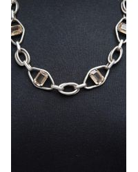 Lanvin - Natural Pre-owned Chain And Crystal Necklace - Lyst