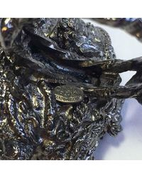 """Chanel - Metallic Xxx Bague T56 """"paris-venise"""" En Ruthénium Et Perle Nacrée ; - Lyst"""