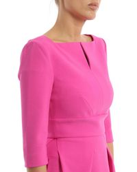 Roland Mouret - Pink Viscoese Crepe - Lyst