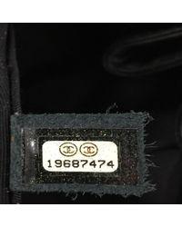 Chanel Black Paris-dallas Drawstring Fringe Shoulder Bag Quilted Leather Large