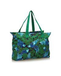 Hermès - Green Printed Cotton Tote Bag - Lyst