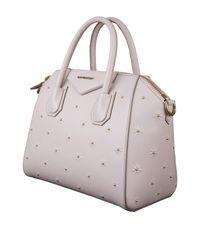 c7eedb18df Lyst - Givenchy Grey Antigona Small Tote Bag In Calfskin With Golden ...