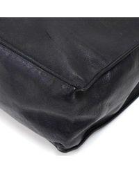 Chanel - Vintage Jumbo Xl Black Leather Shoulder Shopping Tote Bag - Lyst