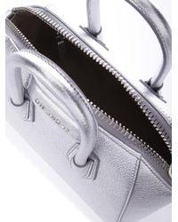 Givenchy - Metallic Bags Ss18 Silver Leather Antigona Mini Handbag - Lyst