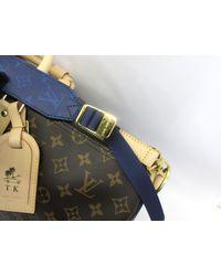 Louis Vuitton Blue Keepall Bandoulieree50 Boston Handbag M43861 Monogram Split Canvas