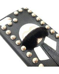 Fendi Karlito (karito) Iphone 6 / Iphone 6s Cover Iphone Case Black Leather