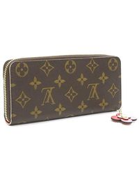 huge selection of d5be8 b1570 Women's Brown Monogram Portefeiulle Clemance Purse Flower Pink M64201