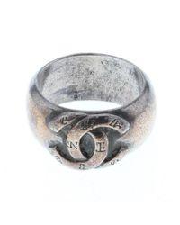 Chanel Metallic Cc Mark Logo No. 13 Silver #13 Silver
