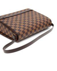 Louis Vuitton - Brown Tribeca Long Damier Ebene Canvas Shoulder Bag - Lyst