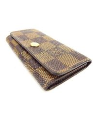 a91a1efb9833 Lyst - Louis Vuitton Key Holder Damier Unisexused T1430 in Brown