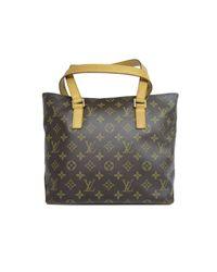 84836c605087 Louis Vuitton. Women s Brown Auth Cabas Piano Shoulder Tote Bag Monogram  Canvas ...
