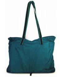 Miu Miu - Lizard Embossed Bag Tote Bag Shoulder Bag Shopping Bag Miumiu Nylon Blue - Lyst