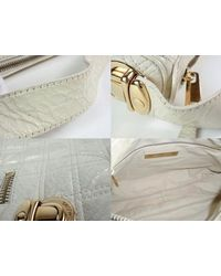 Marc Jacobs White Mj Handbag Shoulder Bag Quilted Patent Leather 100% Auth From Japan