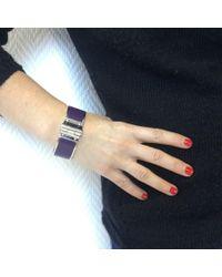Hermès Purple Bracelet Charniere Large Email Raisin