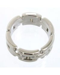 Cartier - Auth Tank Francaise Ring Eu#55 Us#6.75 White Gold 18k - Lyst