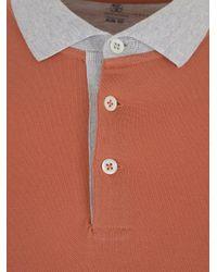 Brunello Cucinelli Orange Polo Shirts for men