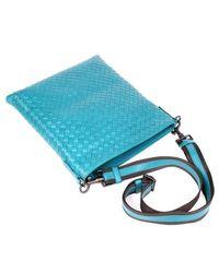Bottega Veneta - Blue Intrecciato Vn Crossbody Bag for Men - Lyst