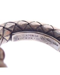 Bottega Veneta - Brown Silver Leather Necklace V9694 Intrecciato - Lyst
