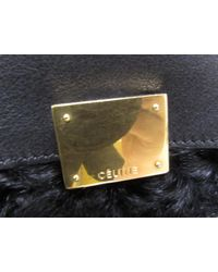Céline - Black Trapeze 2way Shoudlerbag Handbag Leatherxwool - Lyst