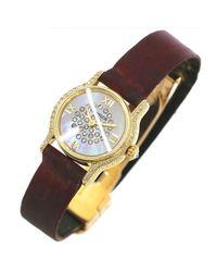 Cartier - Metallic Riviera Diamond Bezel 750 Yellow Gold White Shell Dial 90047932.. - Lyst
