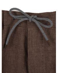 Brunello Cucinelli Brown Linen Suit for men