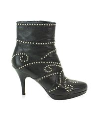 Miu Miu Miumiu Studs Short Boots Leather Black 36 Women's 90041476..