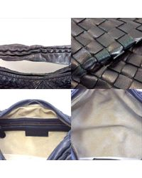 Lyst - Bottega Veneta 115653 Intrecciato Shoulder Bag Lambskin in Black f6797dcd20