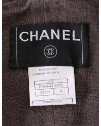 Chanel Jacket Skirt Cotton Suit Set Up Denim-based Fabric Brown 03p