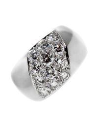 Cartier - Diamond White Gold Ring - Lyst