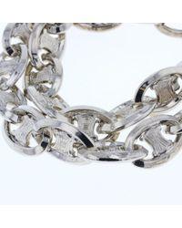 Céline Metallic Logo Macadam Chain Silver Silver