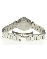 Cartier - Metallic Mispacha After Diamond Bezel Ladies Quartz Pre-owned - Lyst