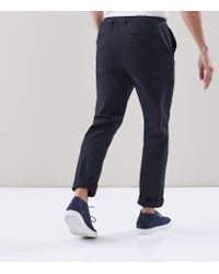 Reiss Blue Isola - Drawcord Waisted Trousers for men