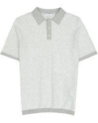 Reiss - Gray Thomlinson Stitch Stripe Polo Shirt for Men - Lyst