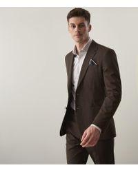 Reiss Brown Lucas B - Slim Fit Blazer for men