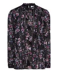 Reiss - Black Luce - Floral Burnout Printed Blouse - Lyst