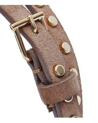 Reiss - Natural Ina Skinny Studded Belt - Lyst