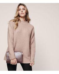 Reiss - Pink Anabella Wool-blend Sweater - Lyst