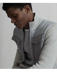 Reiss Gray Miller - Hybrid Zip Through Quilted Jacket for men