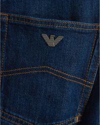 Armani Jeans - Blue J21 Jeans, Regular Fit Tobacco Stitch Mid Wash Denim for Men - Lyst
