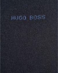 BOSS Black - Marc Plain Colour Cotton Navy Blue Socks for Men - Lyst