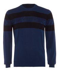 Etro | Striped Jumper, Navy Blue Paisley Knitwear for Men | Lyst