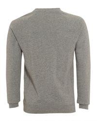 BOSS Gray Sweater, Wheel Slim Fit Grey Track Top for men