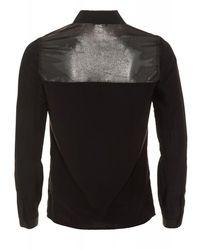 Armani Jeans - Black Satin Shirt Metallic Blouse for Men - Lyst