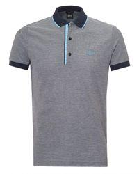 BOSS Athleisure - Gray Paule 4 Polo Shirt, Cotton Piqué Grey Polo for Men - Lyst