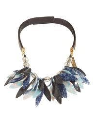 Weekend by Maxmara - Blue Perigeo Necklace, Black Navy Petal Choker - Lyst
