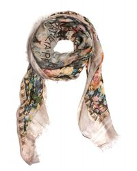 Patrizia Pepe - Pink Scarf Light All Over Rose Square Foulard Scarf - Lyst