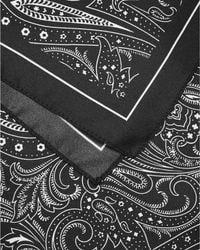 BOSS Gray Pocket Square Charcoal Grey Paisley Print Silk Scarf for men