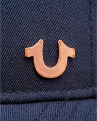 True Religion - Horseshoe Logo Cap, Navy Blue Hat for Men - Lyst